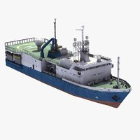 3d orient oil survey ship