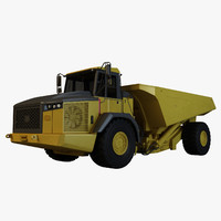 articulated dump truck 3d model