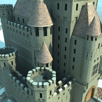 Castle Medieval Fantasy with Landscape