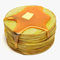 maya pancakes modeled