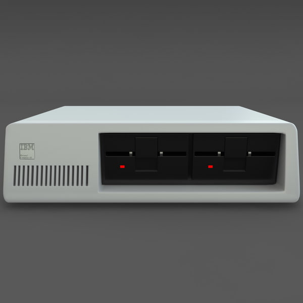 ibm pc xt computer 3d 3ds - IBM PC XT... by 3d_molier