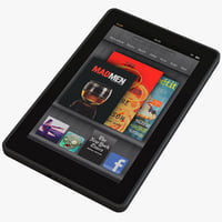 kindle tablet 3d model