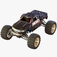 rigged car rc 3d model