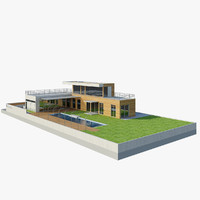 pool house 3d fbx