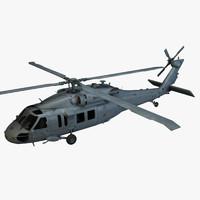 3d model s-70 skorsky helcopter
