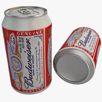 3d budweiser beer