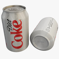 diet coke 3d obj