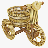 maya decorative wicker tricycle basket