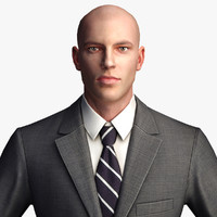 3d model businessman - character games