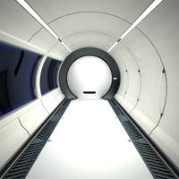 Futuristic Sci Fi Spaceship Corridor