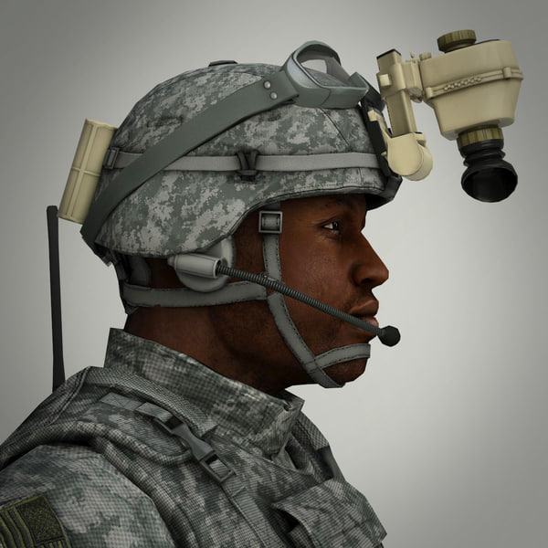military male soldier 3d model - Military Male US Soldier... by CG ARTStudio