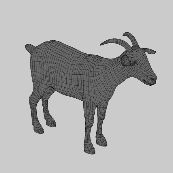 goat fur animation 3d model - Goat (1) (ANIMATED) (FUR)... by Massimo Righi