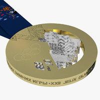 Gold Olympic Medal Sochi