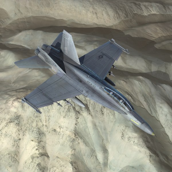 3d model f strike fighter navy
