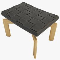 pouf armchair minotti 3d max
