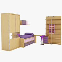 3ds max kids bedroom furniture