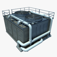 3d large commercial ac unit