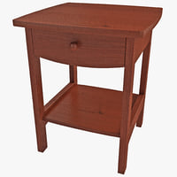 3d night stand table winsome