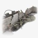 destroyed wall 3D models