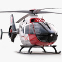 Service helicopter 3D models