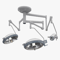 3d medical operating lights model