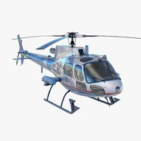 3d as350 medical eurocopter model