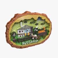 3d bulgaria magnet souvenir model