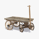 wooden cart 3D models