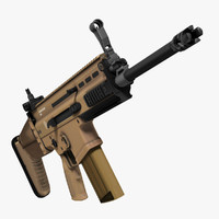 3ds max assault rifle fn scar-h