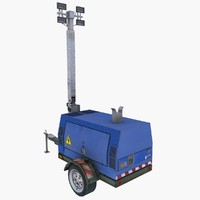 ready mobile generator light rig 3d model