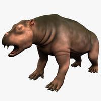desmostylia mammal 3d model