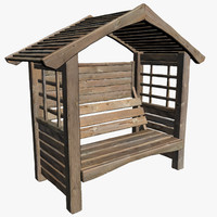 Garden Seat With Roof