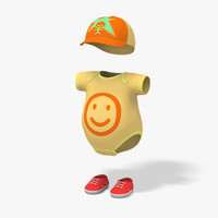 modeled baby clothes boy 3d model