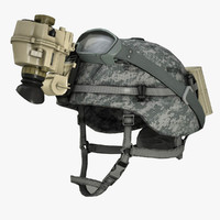 3d military helmet soldier night vision