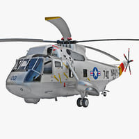3d model sh-3 sea king rigged