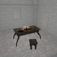 3dsmax medieval interior scene