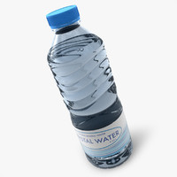 3d model realistic water bottle