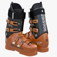 3d alpine boots model