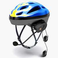 3d bluetooth bicycle helmet model
