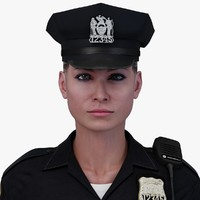 3d obj police officer