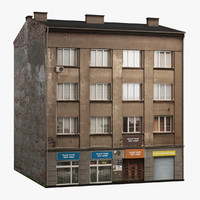 3d old building 01