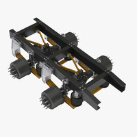 3d model truck 2 axle chassis