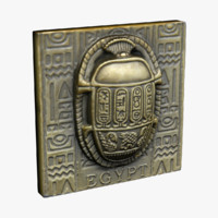 egypt magnet souvenir 3d model