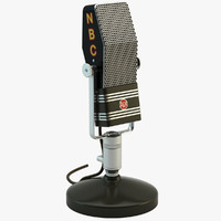 Retro NBC Broadcasting Microphone