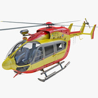 eurocopter ec145 helicopter 3d 3ds