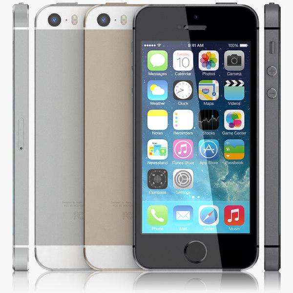 3d apple iphone 5s. Black Bedroom Furniture Sets. Home Design Ideas