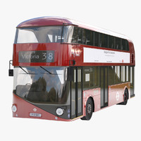 new bus london 3d max