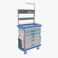 medical trolley 3d 3ds