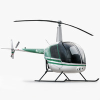 3d model of robinson r22 helicopter