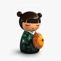 minidoll geisha 3d max